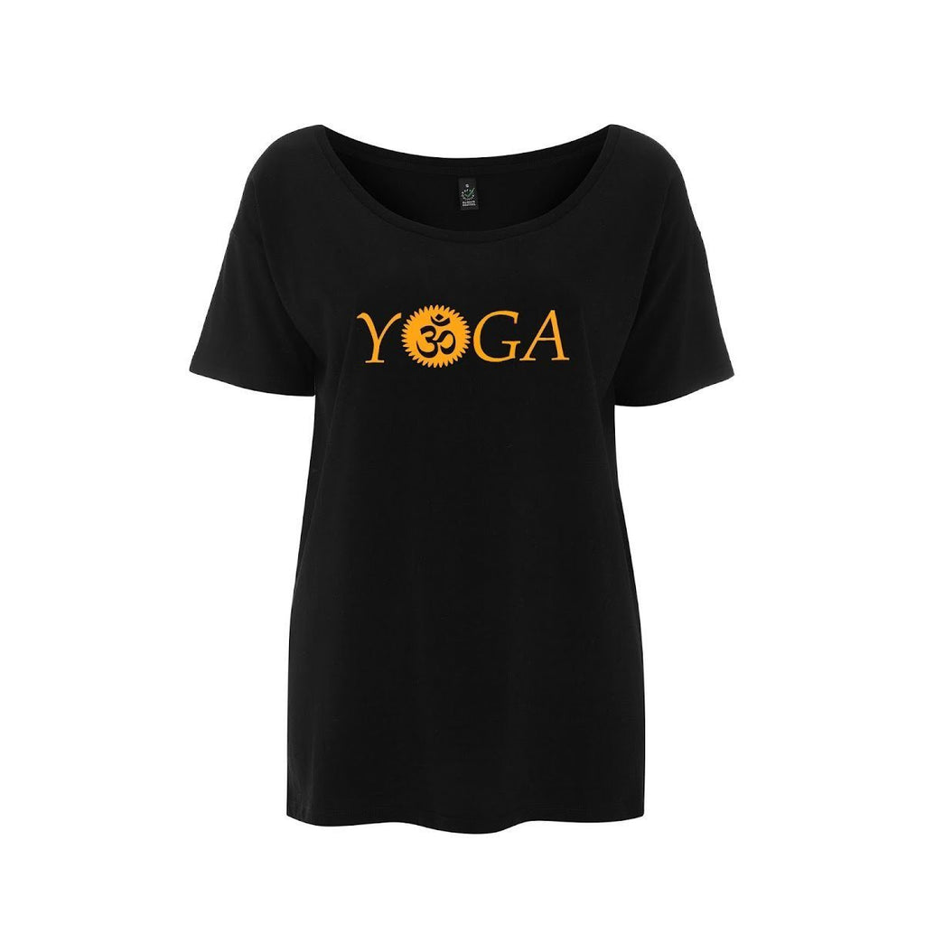 Womens OM Yoga Top made from Eucalyptus Fibre and 50% Organic Cotton - SustainTheFuture - 9