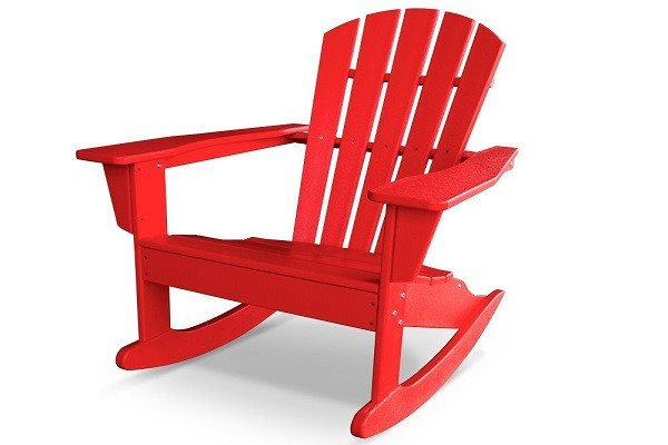 CASA BRUNO South Beach II Adirondack Rocking Chair made of recycled Polywood® HD - SustainTheFuture - 1