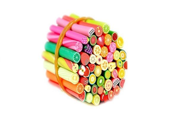 Fashion Gallery 50pcs 3D Nail Art Fimo Canes Sticker Decoration Fruit, Easy DIY - SustainTheFuture - 1