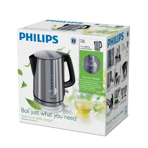 Philips HD4671/20 Energy Efficient Kettle, 3000 Watt, 1.7 Litre - Brushed Metal - SustainTheFuture - 6
