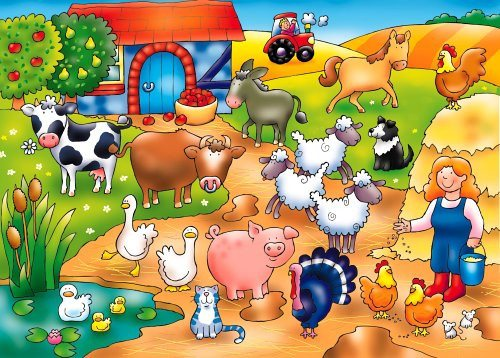 Orchard Toys Who's on the Farm? Ideal puzzle for younger children - SustainTheFuture - 2