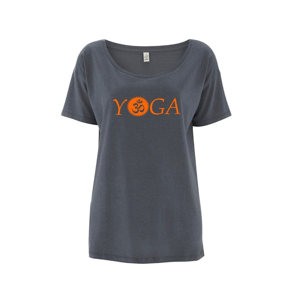 Womens OM Yoga Top made from Eucalyptus Fibre and 50% Organic Cotton - SustainTheFuture - 4