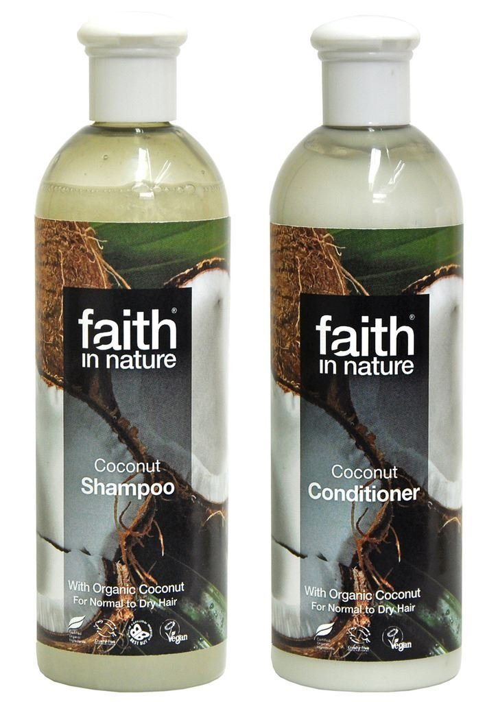 Faith In Nature Coconut Shampoo 400 ml + Faith In Nature Coconut Conditioner 400 - SustainTheFuture - 2