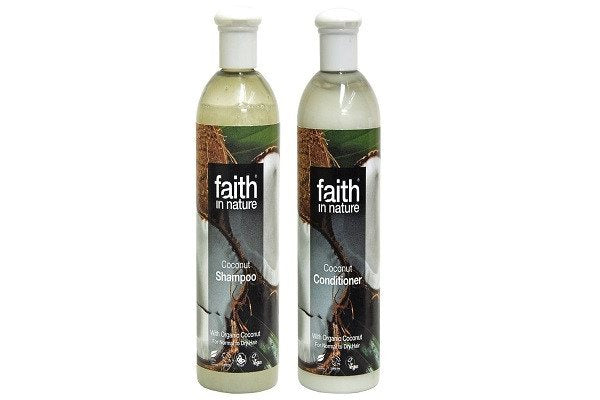 Faith In Nature Coconut Shampoo 400 ml + Faith In Nature Coconut Conditioner 400 - SustainTheFuture - 1