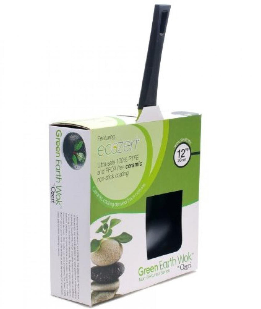 12-Inch Green Earth Wok by Ozeri, with Smooth Ceramic Non-Stick Coating (100% PT - SustainTheFuture - 6