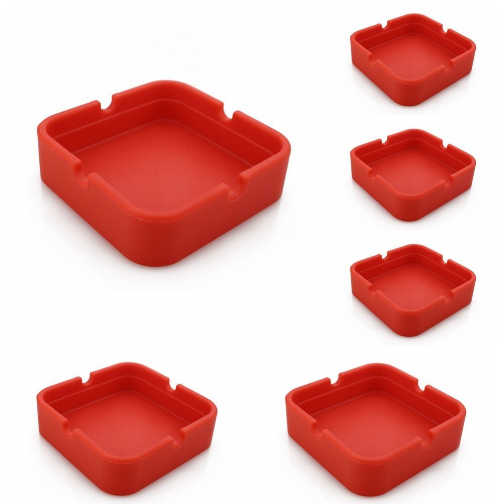 New Life Eco-Friendly Colorful 6PCS Silicone Ashtray (Red-8.3x.3x2.5cm) Bendable - SustainTheFuture - 12