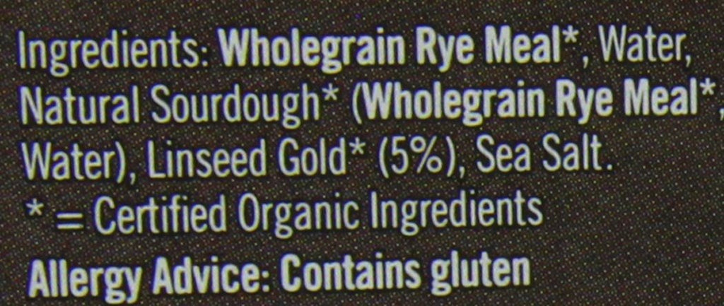 Biona Rye Omega 3 Golden Linseed Organic Bread 500 g (Pack of 6) - crammed full - SustainTheFuture - 6