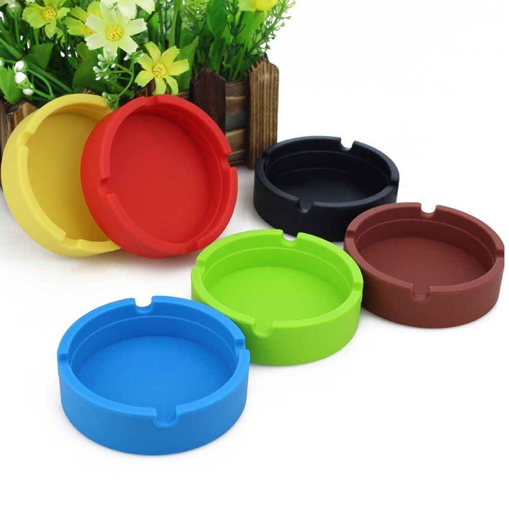 New Life Eco-Friendly Colorful 6PCS Silicone Ashtray (Red-8.3x.3x2.5cm) Bendable - SustainTheFuture - 15