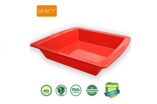 "Cake Bakeware,Silivo 1.5"" Deep Silicone Cake Moulds Square Baking Moulds - SustainTheFuture - 1"