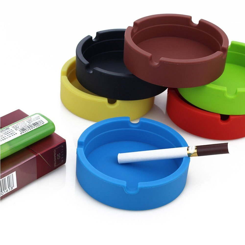 New Life Eco-Friendly Colorful 6PCS Silicone Ashtray (Red-8.3x.3x2.5cm) Bendable - SustainTheFuture - 17