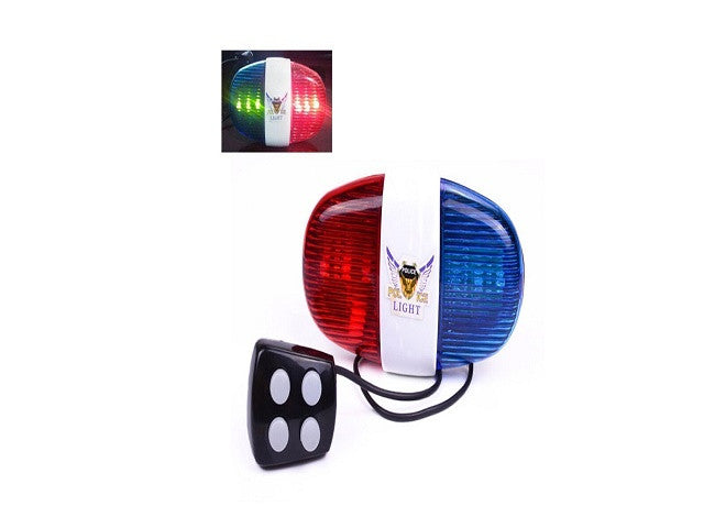 iEpoch Cycling Bike Electric Horn [4 Sounds] Bicycle Police Siren Bell [6 LED Lights] - SustainTheFuture - 1