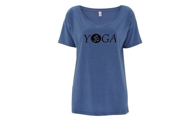 Womens OM Yoga Top made from Eucalyptus Fibre and 50% Organic Cotton - SustainTheFuture - 1