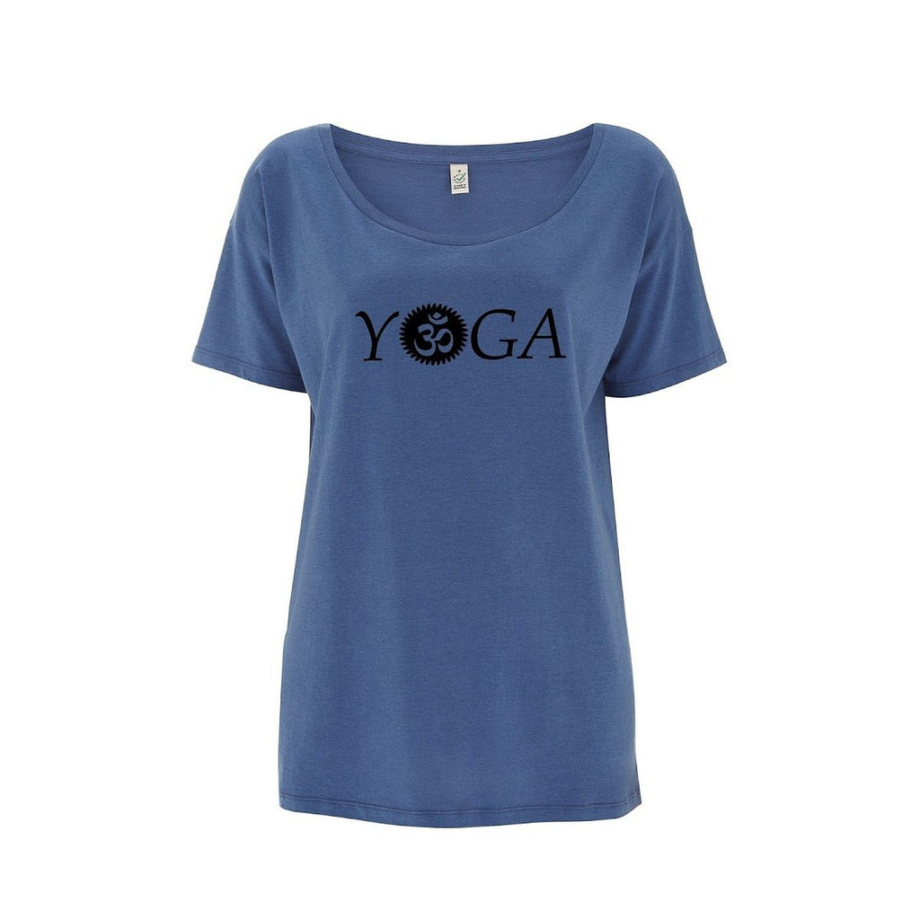 Womens OM Yoga Top made from Eucalyptus Fibre and 50% Organic Cotton - SustainTheFuture - 6