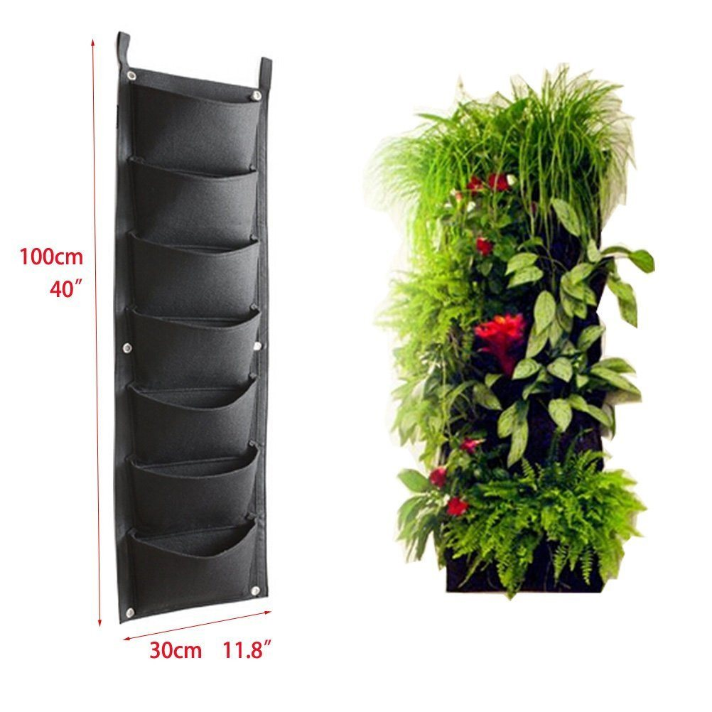 AmgateEu 7 Pockets Vertical Wall Garden Planter Wall-mounted Plant~ Large Size 1 - SustainTheFuture - 4