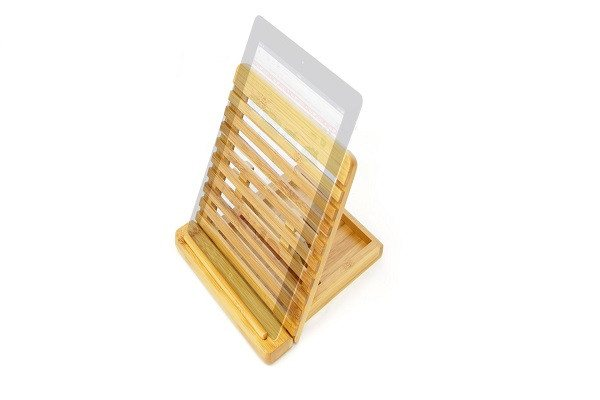 Adjustable iPAD Holder / Stand Desktop Organiser. Made of Eco-friendly Natural S - SustainTheFuture - 1
