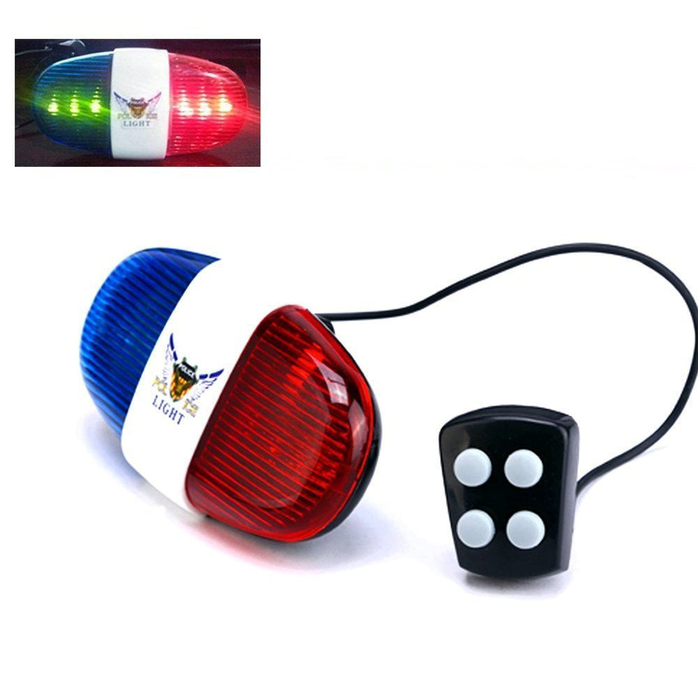 iEpoch Cycling Bike Electric Horn [4 Sounds] Bicycle Police Siren Bell [6 LED Lights] - SustainTheFuture - 4
