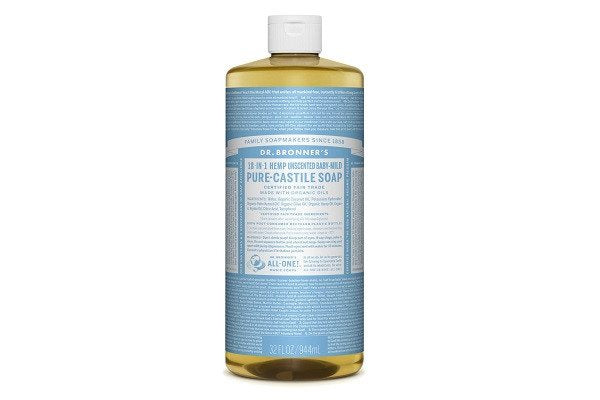 Dr Bronners Organic Baby-Mild Castile Liquid Soap 1Litre contains Glycerin - SustainTheFuture - 1