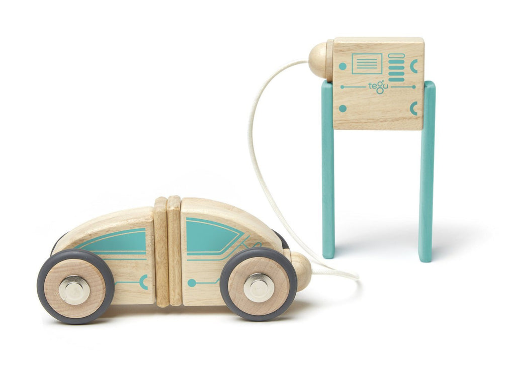 Tegu Circuit Racer Magnetic Wooden Block Set with Tegu's FUTURE sets - SustainTheFuture - 6