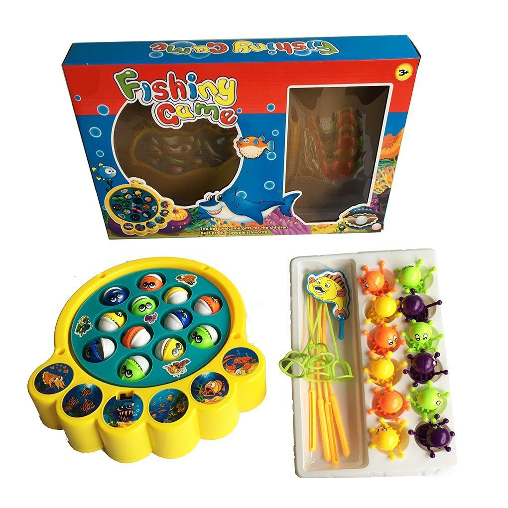 YIXIN Electric Musical Fishes and Octopus Fishing Game Toys Set for Kids 3 Years - SustainTheFuture - 6