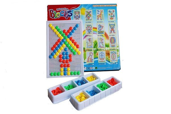 YIXIN 226PCS Colorful Mushroom Nails Pegboard Building Blocks Game Play Set For - SustainTheFuture - 1