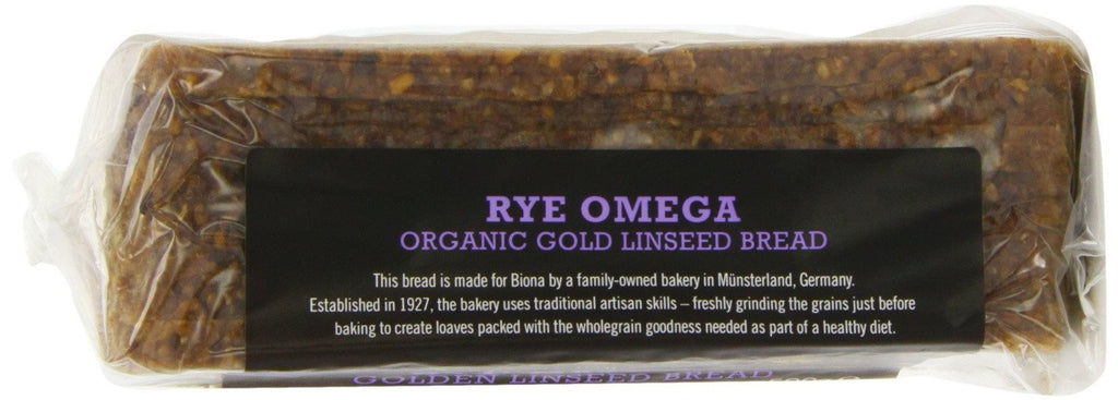 Biona Rye Omega 3 Golden Linseed Organic Bread 500 g (Pack of 6) - crammed full - SustainTheFuture - 3