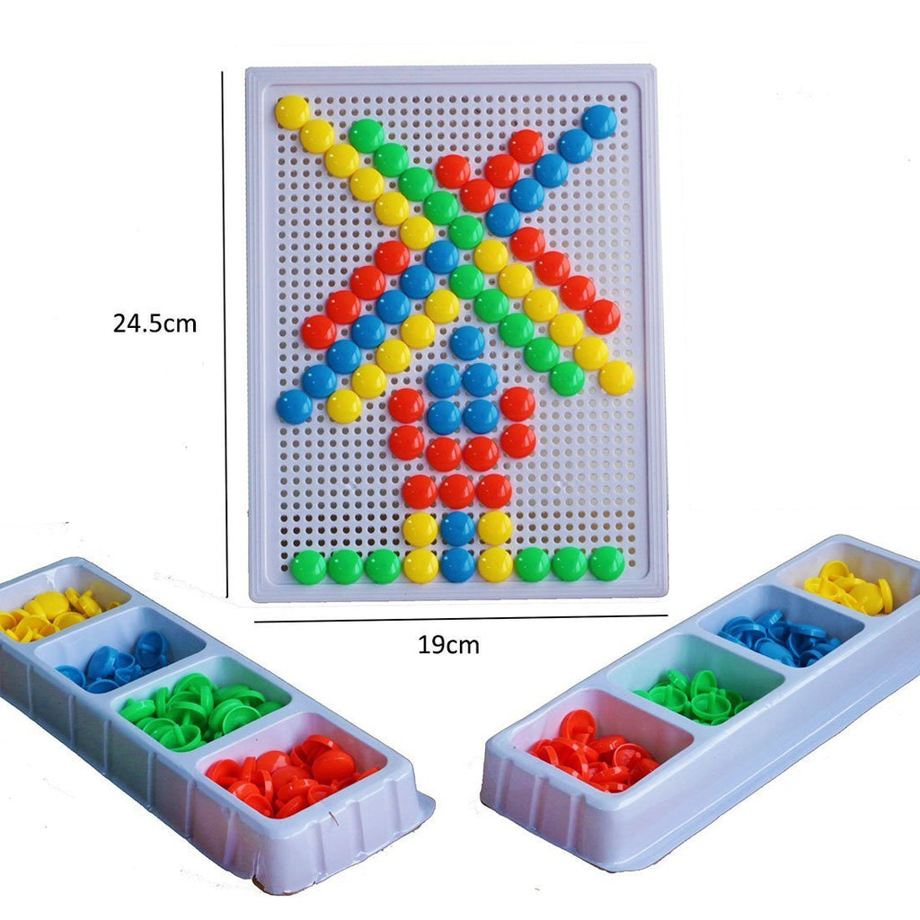YIXIN 226PCS Colorful Mushroom Nails Pegboard Building Blocks Game Play Set For - SustainTheFuture - 3
