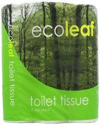 Ecoleaf From Suma Ecoleaf Toilet Tissue 9 Rolls (Pack of 5, Total 45 Rolls) - SustainTheFuture - 1