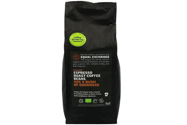 Equal Exchange Espresso Roast Organic Whole Bean Coffee 1 kg This espresso roasted wholebean - SustainTheFuture - 1