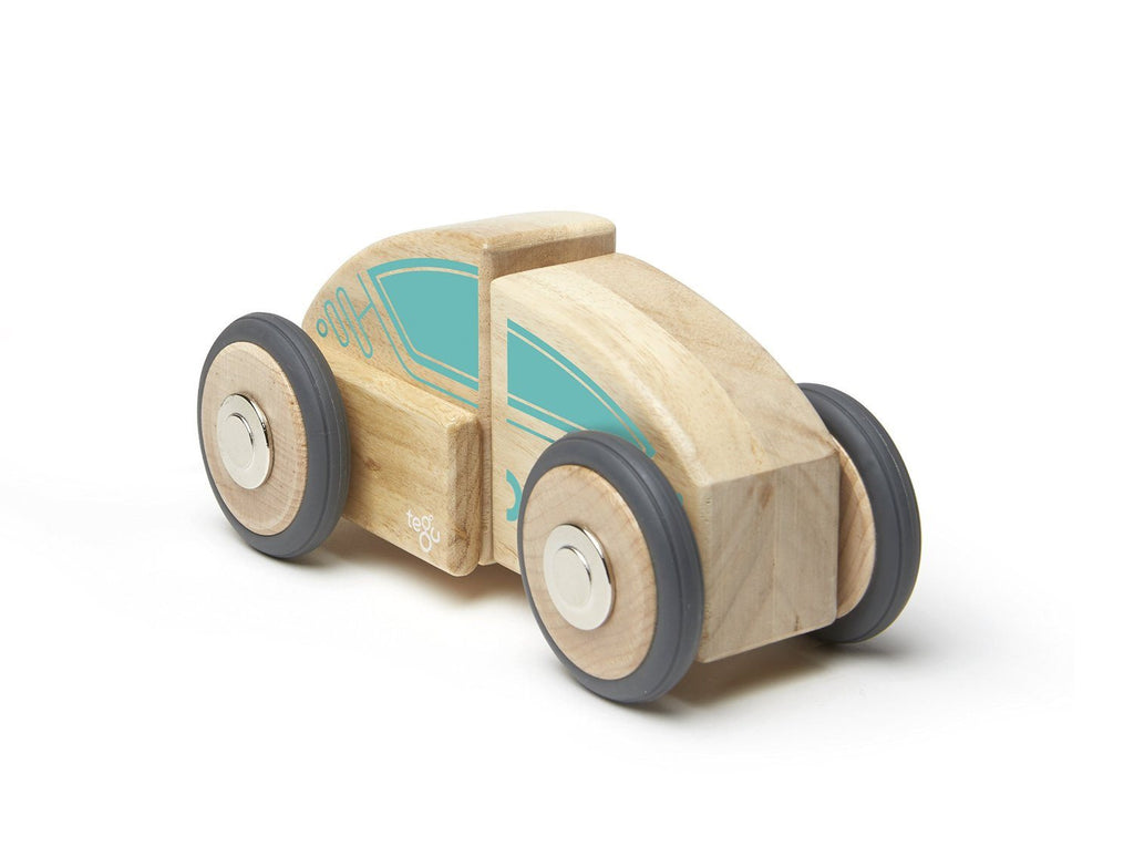 Tegu Circuit Racer Magnetic Wooden Block Set with Tegu's FUTURE sets - SustainTheFuture - 5