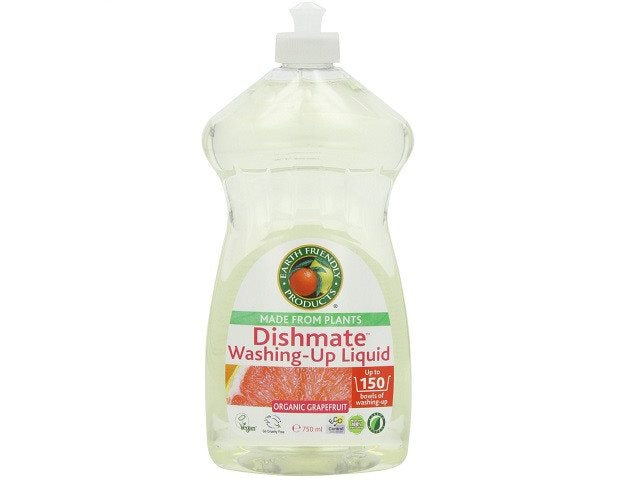 Earth Friendly Products Grapefruit Dishmate Washing Up Liquid 750 ml (Pack of 2) - SustainTheFuture - 1