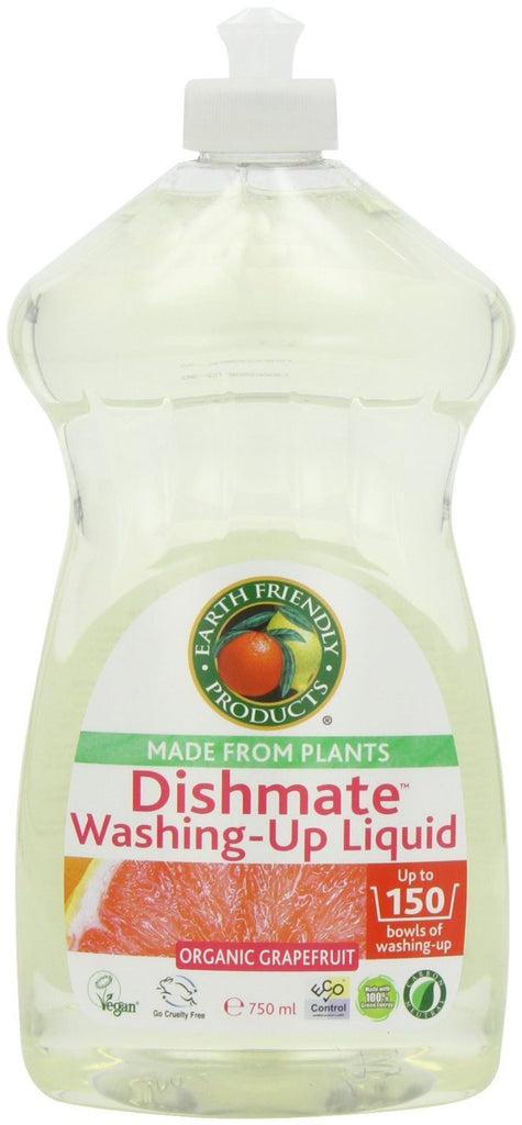 Earth Friendly Products Grapefruit Dishmate Washing Up Liquid 750 ml (Pack of 2) - SustainTheFuture - 3