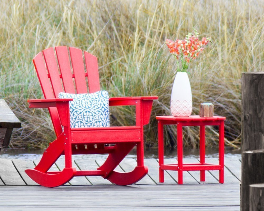 CASA BRUNO South Beach II Adirondack Rocking Chair made of recycled Polywood® HD - SustainTheFuture - 3
