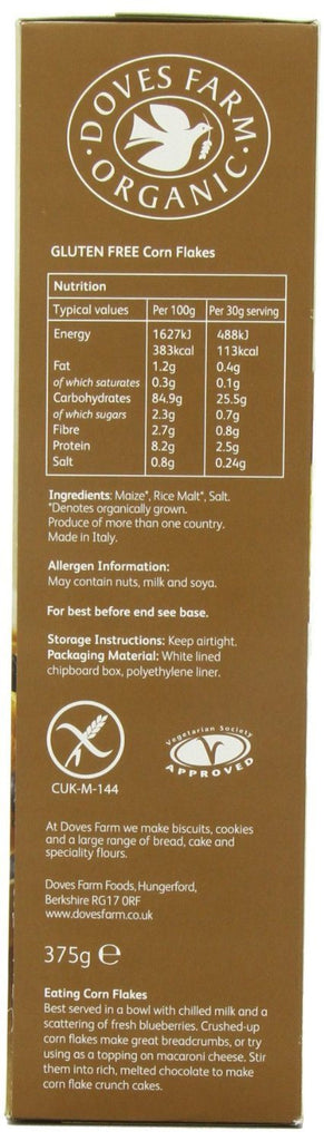 Doves Farm Organic Original Cornflakes 375 g (Pack of 4) -With added malted rice - SustainTheFuture - 4