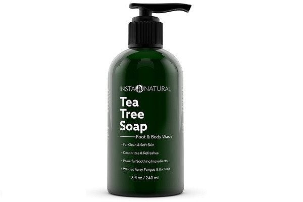 InstaNatural Antifungal Tea Tree Oil Soap - Foot & Body Wash - For Acne, Odor, B - SustainTheFuture - 1