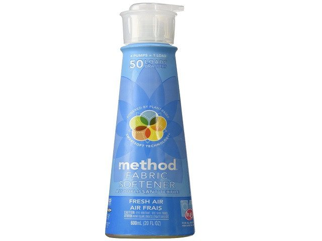 Fabric Softener, 50 Loads, Fresh Air, 20 fl oz (600 ml) Amazingly Concentrated, Method Fresh Air Fabric Softener - SustainTheFuture - 1