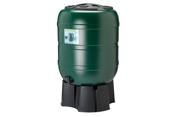 210 litre Water Butt, complete with stand, filler & tap - 210 Litre Capacaity Ta - SustainTheFuture