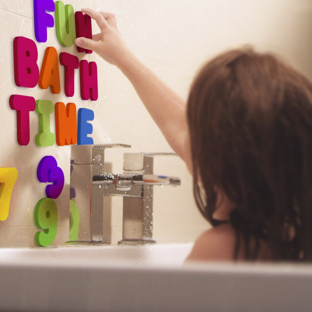 Bath Letters And Numbers With Bath Toy Organizer. The Best Educational Bath Toys - SustainTheFuture - 3