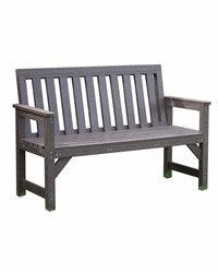 Outdoor Seat Bench Garden Furniture 2 Seater 100% Recycled Plastic - SustainTheFuture - 2