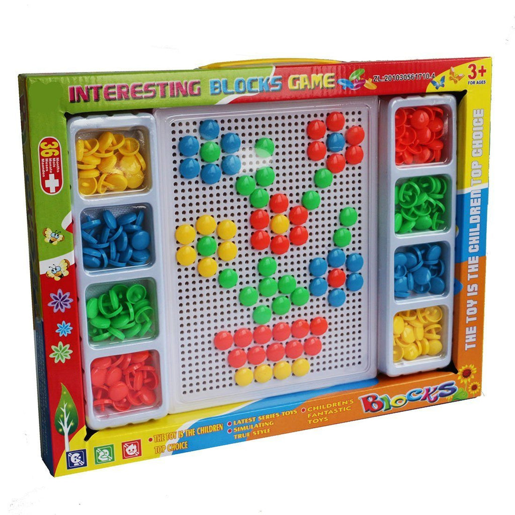 YIXIN 226PCS Colorful Mushroom Nails Pegboard Building Blocks Game Play Set For - SustainTheFuture - 2