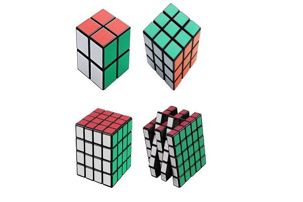 Magic Cube Puzzle A Pack of Four Cube New Better Life 2x2x2 3x3x3 4x4x4 5x5x5 Cu - SustainTheFuture - 1
