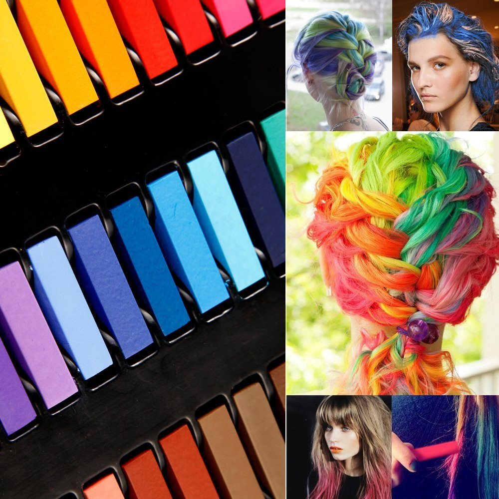 36 Color DIY Hair Chalk Temporary Hair Color Pastel Hair Dye Set Non-toxic - SustainTheFuture - 4