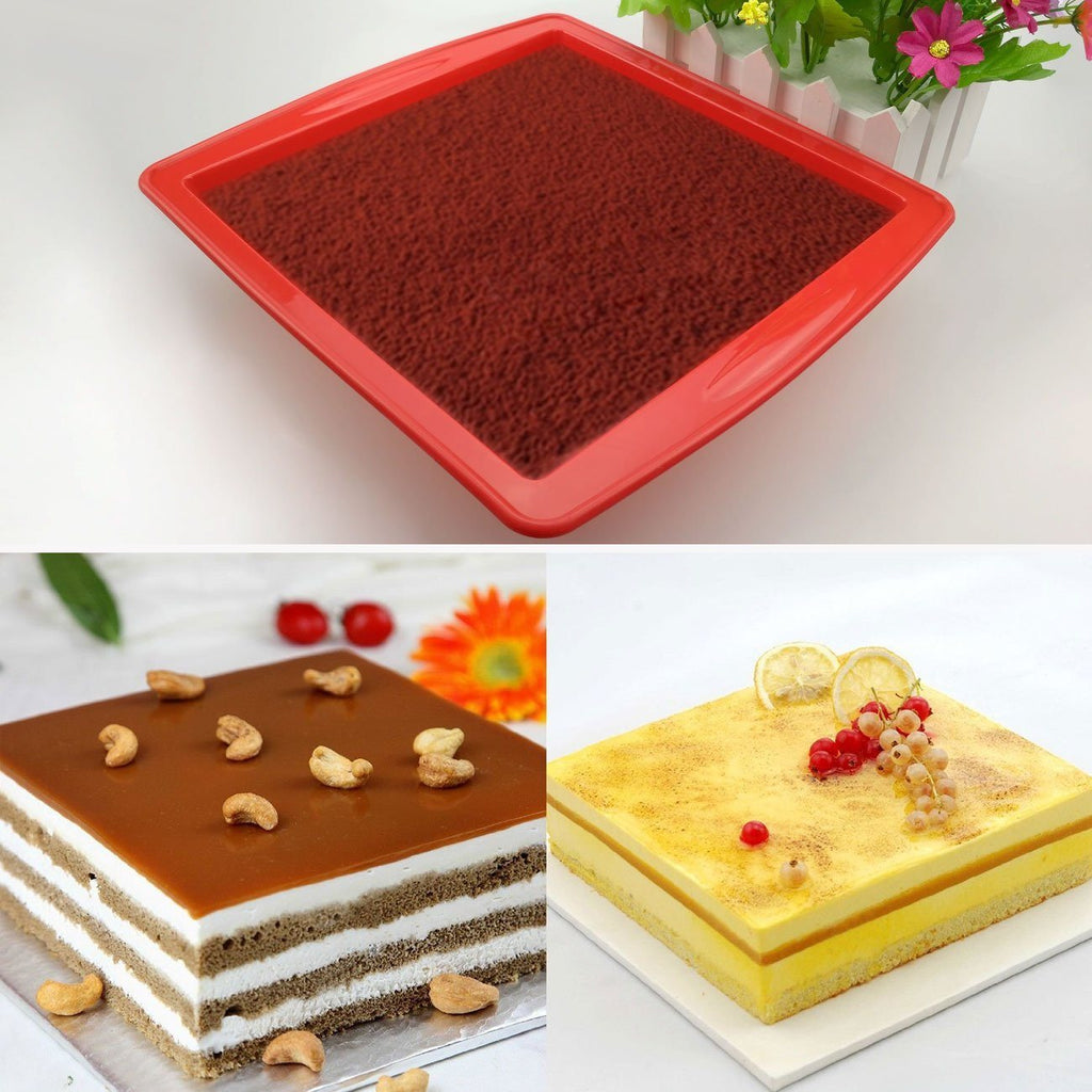 "Cake Bakeware,Silivo 1.5"" Deep Silicone Cake Moulds Square Baking Moulds - SustainTheFuture - 2"
