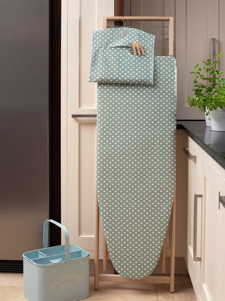 Madeleine Organic Cotton Ironing Board Cover Color: Sage - Strong organic cotton - SustainTheFuture - 2
