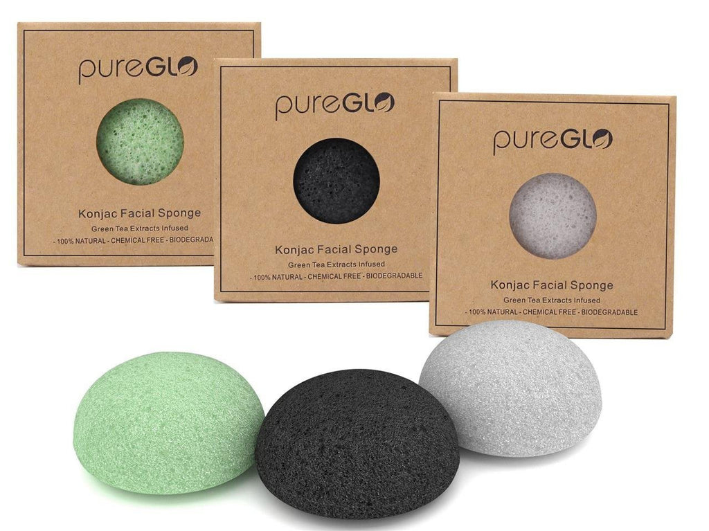pureGLO Purest Konjac Facial Sponge - 100% Natural and Chemical Free - Great for - SustainTheFuture - 2