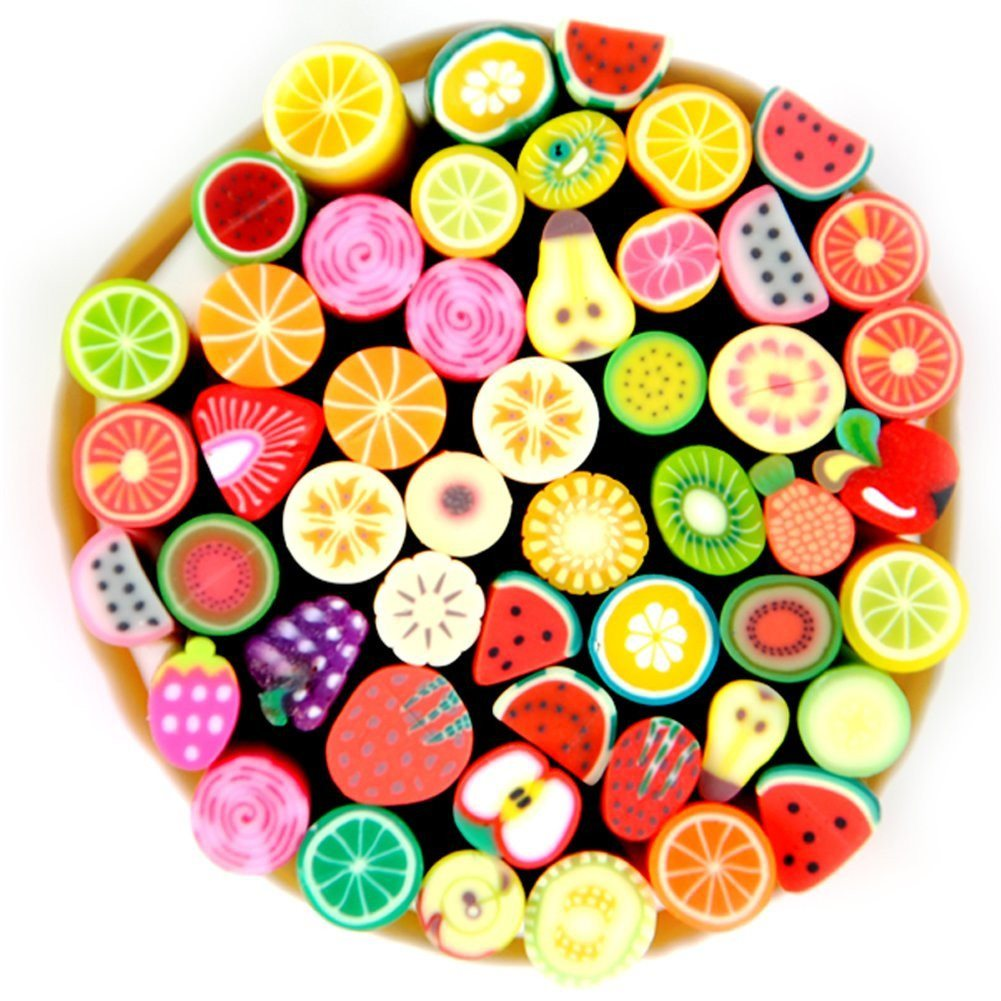 Fashion Gallery 50pcs 3D Nail Art Fimo Canes Sticker Decoration Fruit, Easy DIY - SustainTheFuture - 2
