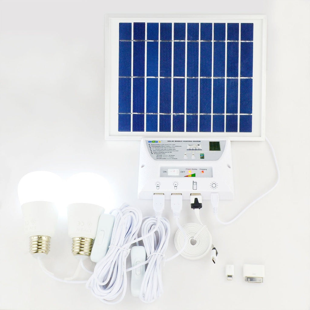 Portable Solar Mobile Lighting System Cellphone Home Emergency Lights Power Pack - SustainTheFuture - 5