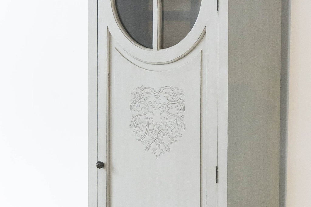 French Style Tall Heart Freestanding Cupboard with intricate heart motif and ins - SustainTheFuture - 4