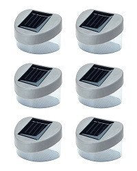 6 x SOLAR POWERED DOOR / FENCE / WALL LIGHTS LED OUTDOOR GARDEN LIGHTING - SustainTheFuture - 4