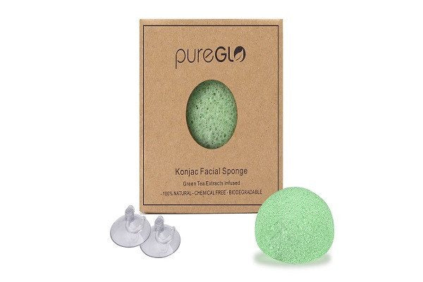 pureGLO Purest Konjac Facial Sponge - 100% Natural and Chemical Free - Great for - SustainTheFuture - 1