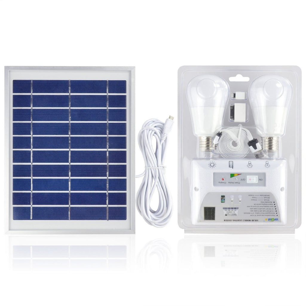 Portable Solar Mobile Lighting System Cellphone Home Emergency Lights Power Pack - SustainTheFuture - 4